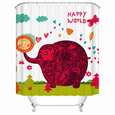 Fashion Bathroom Print Shower Curtain Waterproof Moldproof Polyester Fabric Bath Curtain Elegant Cortina With 12 Hooks W180CM X H200CM