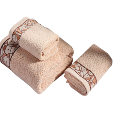 Fashion Soft And Comfortable Thicken Bath Towel-coffee