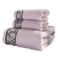 Fashion Soft And Comfortable Thicken Bath Towel-grey