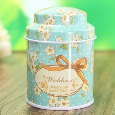 Flower Metal Sugar Coffee Tea Tin Jar Container Candy Sealed Cans Box 01 - Intl