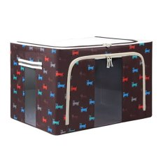 Foldable Non-Woven Fabrics Room Bag Clothes Blanket Holder Storage Box Organizer Brown (Intl)