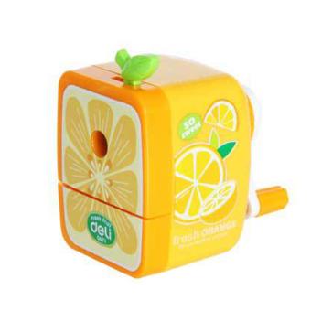 Fruits Pencil Sharpener Hand Crank Manual Desktop School Stationery Kids Orange