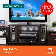 FUNIKA CLTV 1000C – Meja Rak TV – Coklat Tua