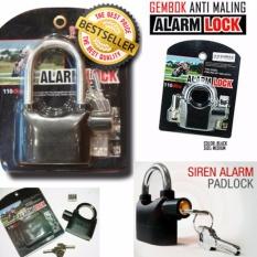 Gembok Alarm Kunci Pengaman Pagar / Motor / Pintu Free Batre