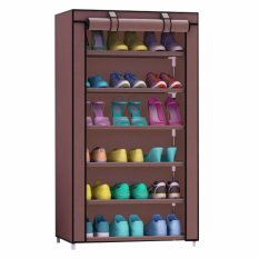 Godric Rak Sepatu SINGLE 7th / Lemari Sepatu / Shoes Rack 56 x 25 x 105 CM - Coffee