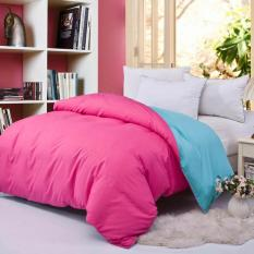 GoGoLife Sanding Cotton Two-tone Duvet Cover / Quilt Cover All Size-35# Hot Pink And Blue