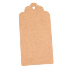 Gracefulvara 50 buah hadiah DIY harga kertas Label Hang tag sebelum pesta pernikahan nikmat