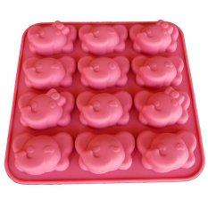 Griya Cetakan Elephant 12 Cavity - Pink