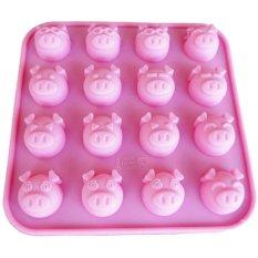 Griya Cetakan Pig 16 Cavity Expression - Pink