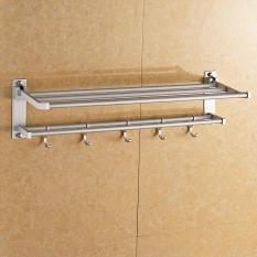 Handuk aluminium ruang dilipat Handuk rak handuk rak Handuk 60 cm-Intl