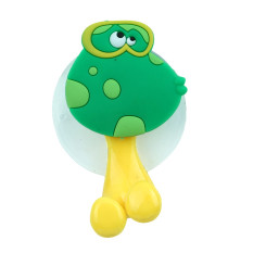 LALANG Cute Animal Toothbrush Holder with Suction Cup Cartoon Frog