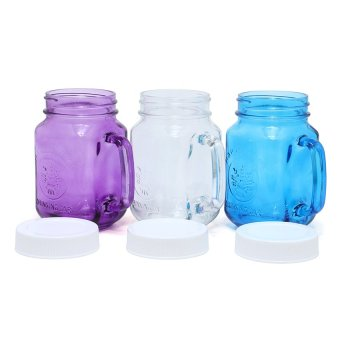 Harvest Set Mug Jar - 450mL - 3 Buah
