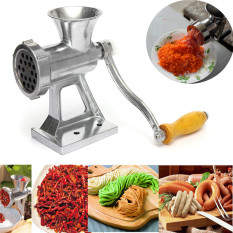 Heavy Duty Hand Operated Meat Grinder Beef Noodle Pasta Sausages Maker (Gray) (Intl)