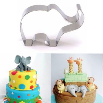 Hewan Gajah Stainless Steel Pemotong Kue Kue Biskuit Kue Alat Cetakan Kue International Rp 31 000