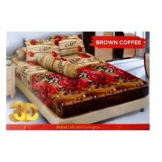 HG Sprei Kintakun Dluxe 180x200cm Motif Brown Coffee
