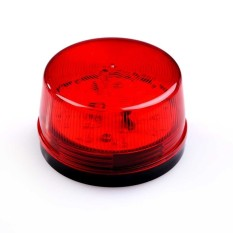 HKS 12V LED Alarm Security Signal Lamp Warning Siren with Red Flashing Light (Intl)