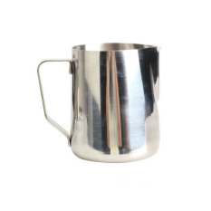 HKS 350ml Stainless Steel Kitchen Home Handle Coffee Garland Cup Latte Jug (Intl)