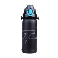HKS 800ml Vacuum Stainless Steel Flask Water Bottle Stainless Steel Bottle (Black) (Intl)