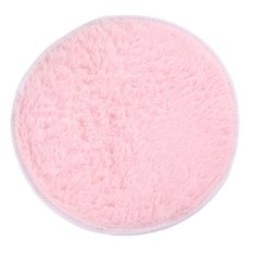HKS 82cm Fluffy Round Foam Rug Non Slip Shower Mat Floor Carpet Pink (Intl)