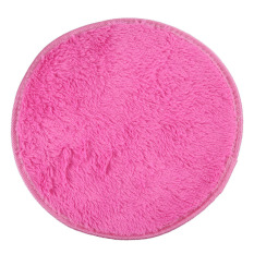 HKS 82cm Fluffy Round Foam Rug Non Slip Shower Mat Floor Carpet Rose Red (Intl)