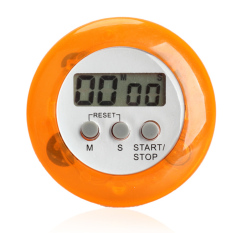 HKS Magnetic LCD Digital Kitchen Countdown Timer Alarm With Stand Orange (Intl)