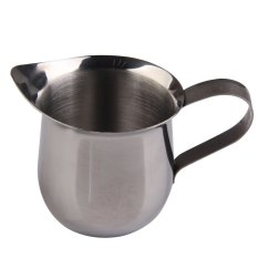 HKS New Stainless Steel Coffee Shop Small Milk Cream Waist Shape Cup Jug 3OZ (Intl)