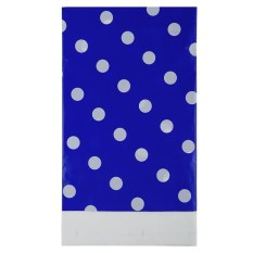 HL Multicolor Dots Pe Catoon Table Cover For Birthday Wedding Decoration Large Size Deep Blue