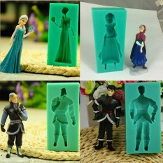 HL New Famous Cartoon Girl Queen Princess Christopher Figure Siliconefondant Molds Cake Decoration Tool Baking Tools Cake Tool - Intl