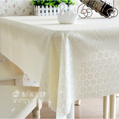HL Pvc Tablecloth Plastic Cover Dining Coffee Tea Table Waterproofcloth 137 X 180 CM Flower Crea M