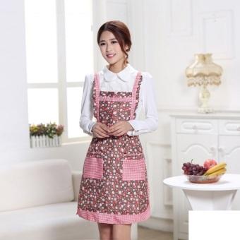 HL Waterproof Pocket Fashion Stylish Classic Design Kitchen Cookingapron (Floral 1Tyxh)
