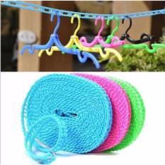 HOKI COD - Tali Jemuran 5 meter Serbaguna - Baju Handuk Hanger - Gantungan Baju - 1 Pcs Multi Colour