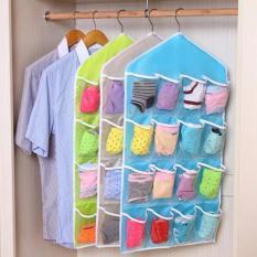 HOLYWINGS - Storage Gantung 16 Kantong Hanger Organizer Underwear Pouch Korean - Biru Muda