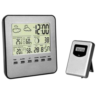 Home Digital Wireless Temperature Humidity Sensor Indoor Outdoor Thermometer Weather Station (Intl)