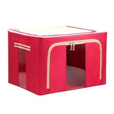 Home Organizer Foldable Non-Woven Fabrics Room Bag Clothes Blanket Storage Box Red (Intl)