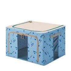 Home Organizer Foldable Non-Woven Fabrics Room Bag Clothes Blanket Storage Box Sky Blue (Intl)