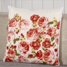 Home Style Cotton Decorative Couple A Dual-use Pillow Cushion Couple Pillow Peony (Intl)