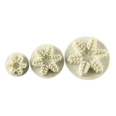 Homegarden Cake Plunger Snowflake Sugarcraft Cutter Mold 3pcs (Intl)