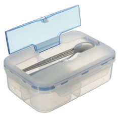 Hot Selling Modern Ecofriendly Outdoor Portable Microwave Lunch Box With Soup Bowl Chopsticks Spoon Food Containers 1000mL - Intl