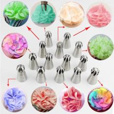 Hottest 1pc Bakeware Sphere Ball Shape Cream Stainless Steel Icing Piping Nozzles Pastry Tips Cupcake Buttercream Bake ToolᄀᆰPattern #6 - Intl