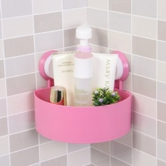 HW Rak Sudut Serbaguna Tempat Sabun Kamar Mandi - Pink