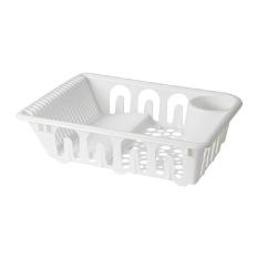IKEA Flundra Dish Drainer Rak Pengering Piring Gelas - Putih