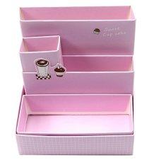 JIANGYUYAN DIY Stationery Makeup Organizer Paper Board Storage Box
