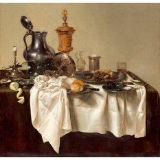 Jiekley Fine Art - Lukisan Banquet Piece With Mince Pie Karya Willem Claesz Heda - 1635