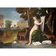 Jiekley Fine Art - Lukisan Circe and Her Lovers in a Landscape Karya Dosso Dossi - 1525
