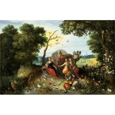 Jiekley Fine Art - Lukisan Landscape with Allegories of the Four Elements Karya Jan Brueghel the Younger & Frans Francken the Younger - 1635