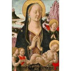 Jiekley Fine Art - Lukisan Madonna and Child with Angels Karya Ferrarese - 1455-1470