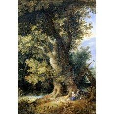 Jiekley Fine Art - Lukisan Rest on the Flight into Egypt Karya Jan Brueghel (I) - 1600-1699