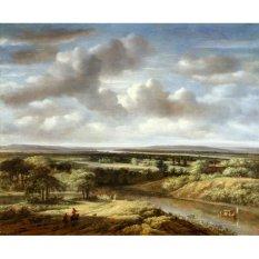 Jiekley Fine Art - Lukisan River Landscape Karya Philips Koninck - 1676