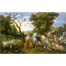Jiekley Fine Art - Lukisan The Entry of the Animals into Noah's Ark Karya Jan Brueghel the Elder - 1613