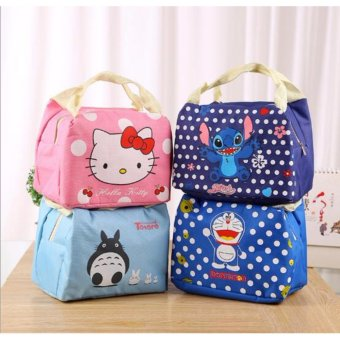 KARTUN Lunch bag Cooler Bag Tas Bekal INSULATED Thermal FREE Ice Jelly